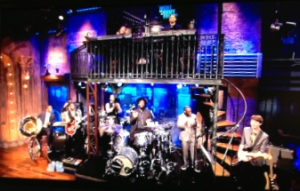 Quinn Sullivan plays with The Roots on Late Night with Jimmy Fallon.